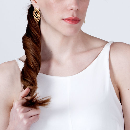 Medium Fractal Earrings