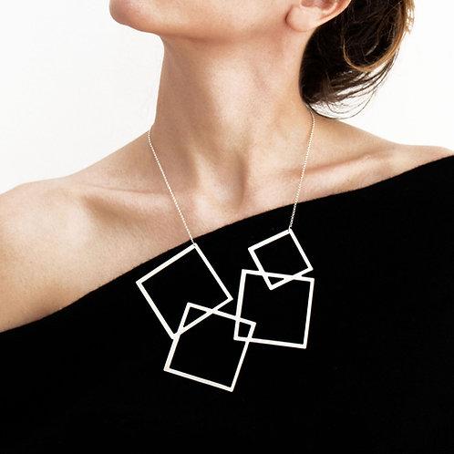 Big Four Square Necklace