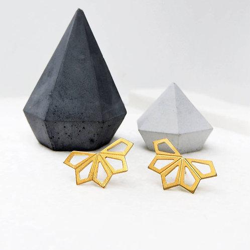 Small Geometric Flower Earrings