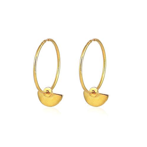 Micro Hoops _ Dot Amphitheater Earrings