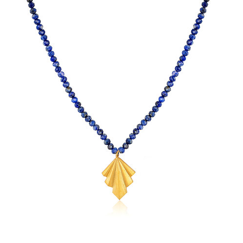 Folds Necklace with Colorful Stones   Winter Edition