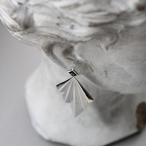 Folds Earrings with Blue Tourmaline