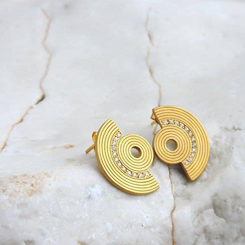 Small Amphitheater Earrings with Zircons