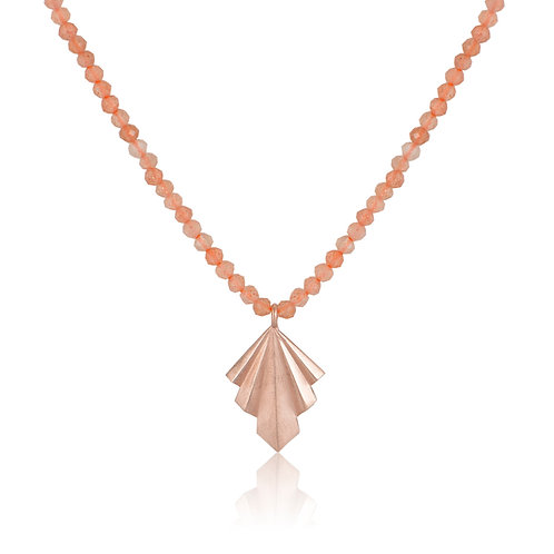 Folds Necklace with Colorful Stones | SummerEdition