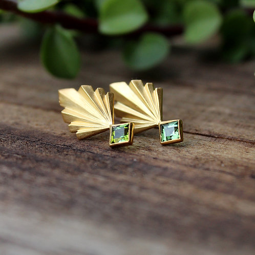 Pineaplle Folds with Green Tourmalines