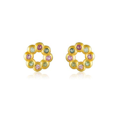 Daisies Rainbow Earrings