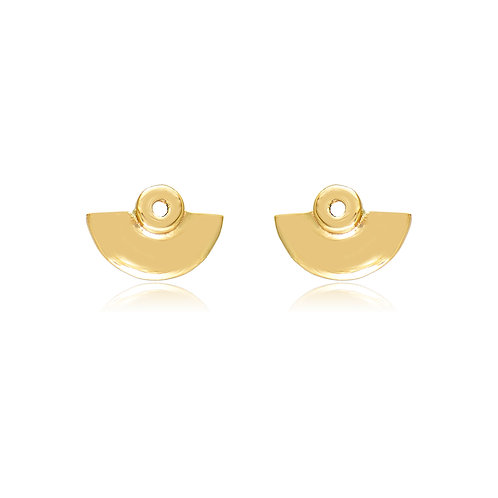 Micros _ Dot Amphitheater Earrings in 14k Gold