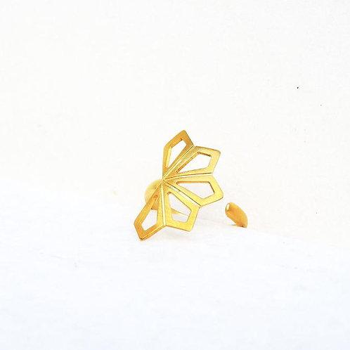 Small Geometric Flower Ring