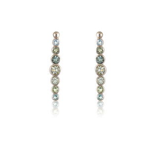 Gold 14k Earrings with Tourmalines