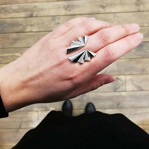 Mirror Folds Ring