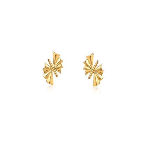 Hermes Earrings in 14k Gold