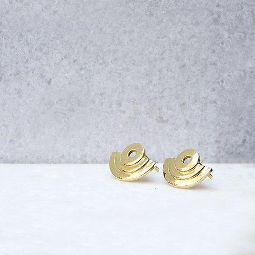 Xs Amphitheater Earrings 14k gold