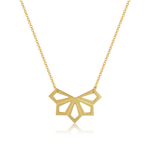 Small Geometric Flower Necklace
