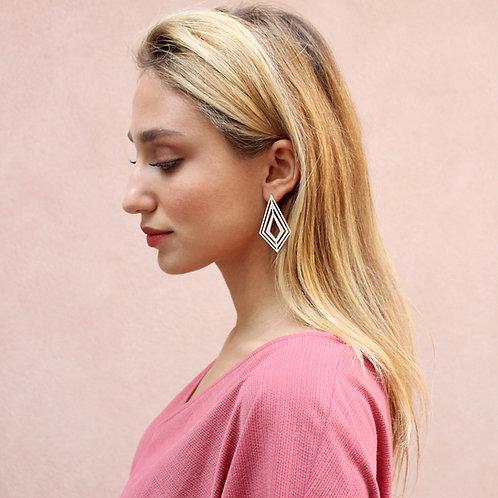 Fractal Rhombus Earrings