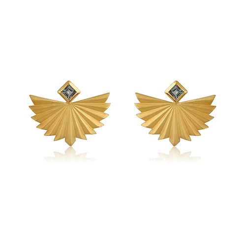 Flying Folds Tourmaline Earrings