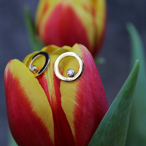 Rainbow Earrings in 14k Gold with brilliants