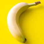 Plátano en BG amarilla