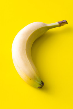 Banana on yellow BG