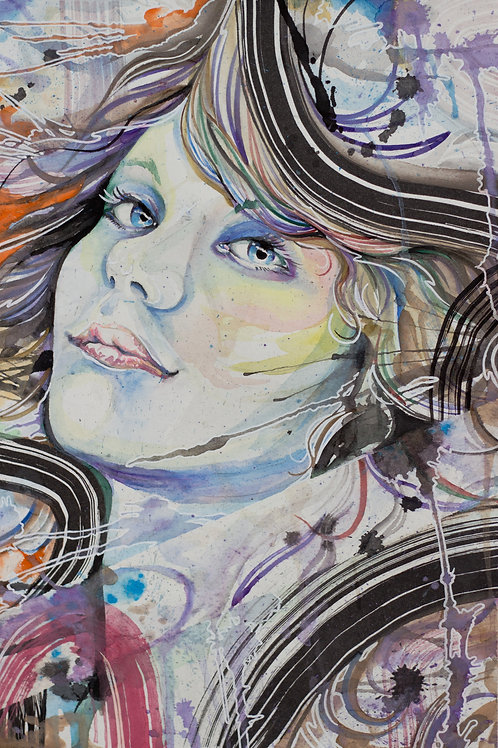 female watercolor