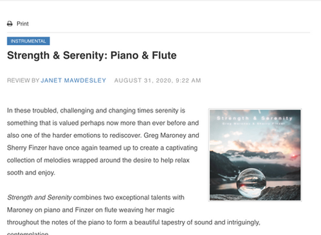 Strength & Serenity: Piano & Flute (Blue Wolf Reviews)