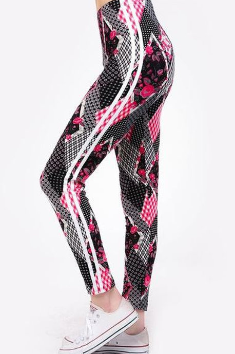 Lean Patchwork & Pink With Stripes