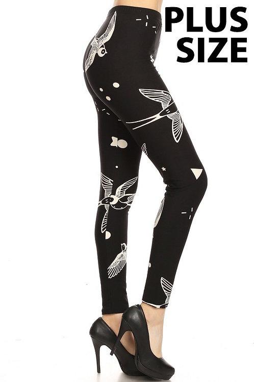 Luscious Black & White Swallows