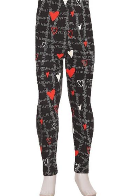 Little Checkered Hearts Red