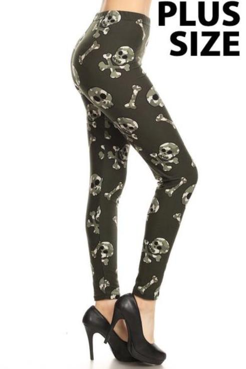 Luscious Skull & Crossbones Khaki