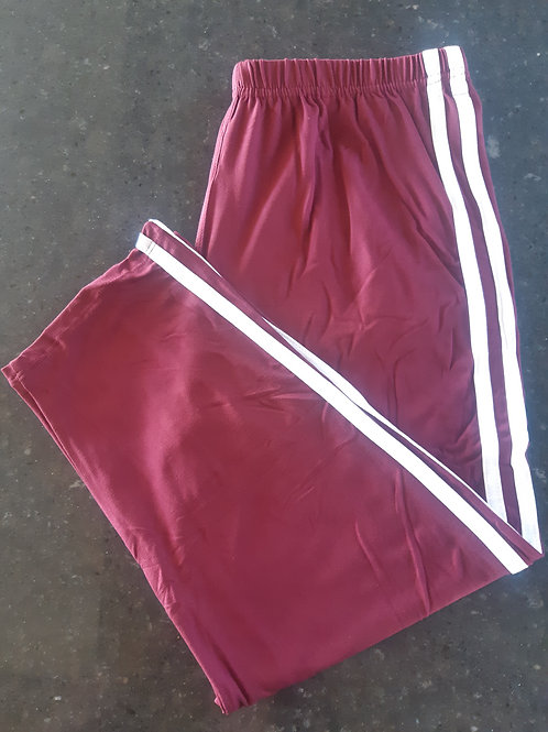 Luscious Solid Burgundy With Stripes CAPRI