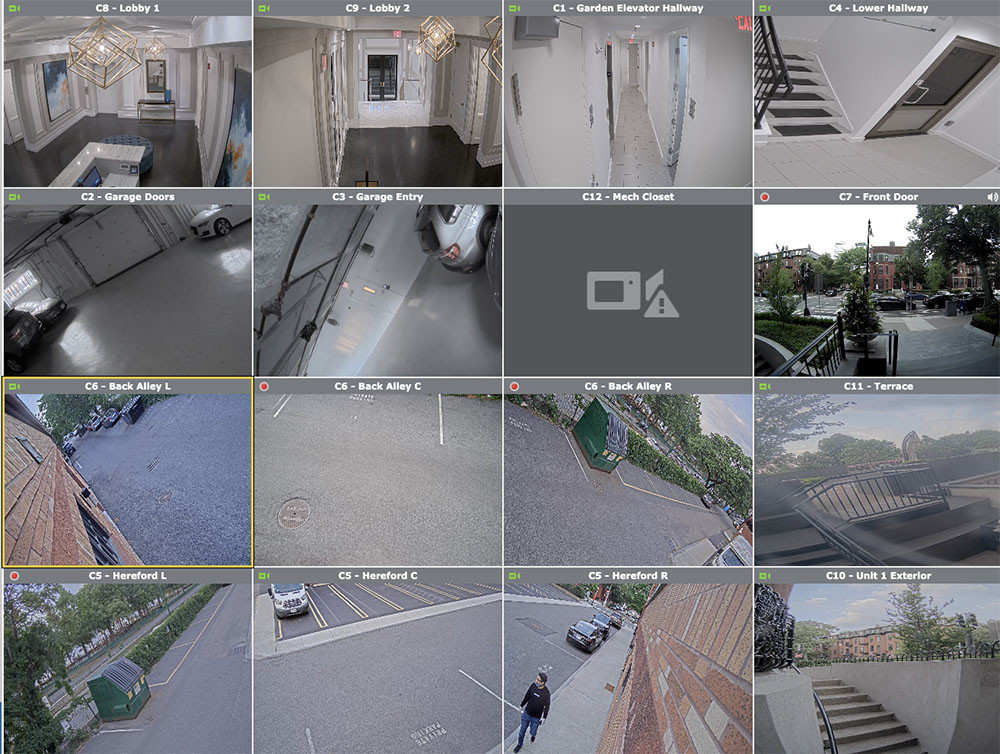 Security camera multi view