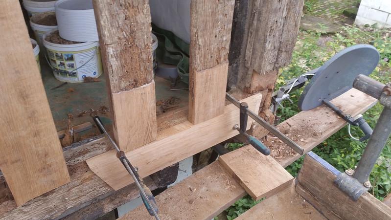 Oak Timber Frame Plate Stud Repair Kent