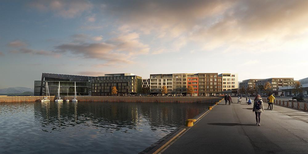 Austurhöfn Apartments from the Harbor