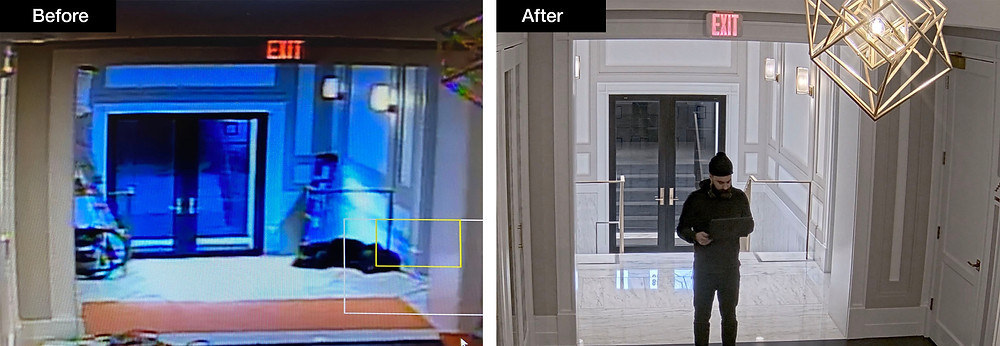 Before and After Security camera upgrade