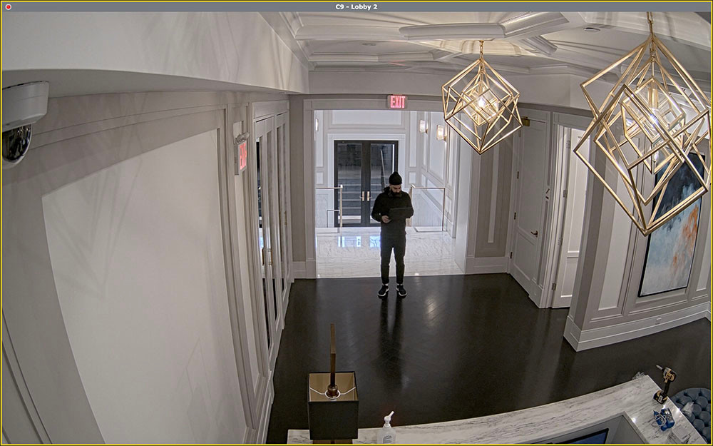 Wide Angel Lobby Security Camera