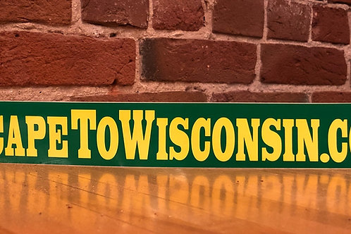 Escape to Wisconsin Bumper Sticker