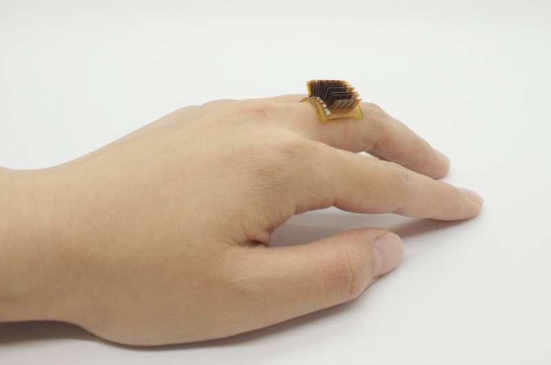 Một máy phát nhiệt điện như một chiếc nhẫn. Ảnh: Xiao Lab