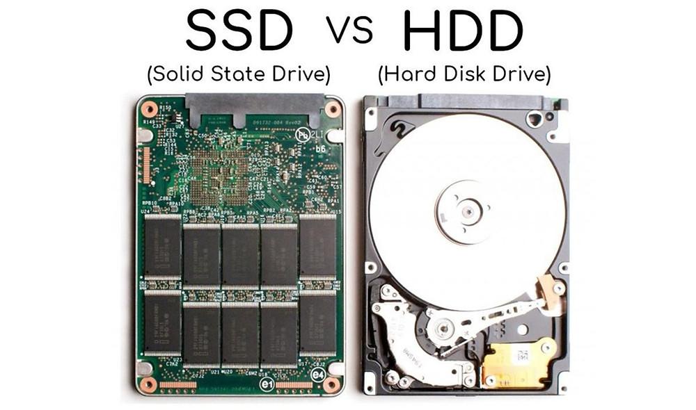 Bên trong ổ SSD và ổ HDD