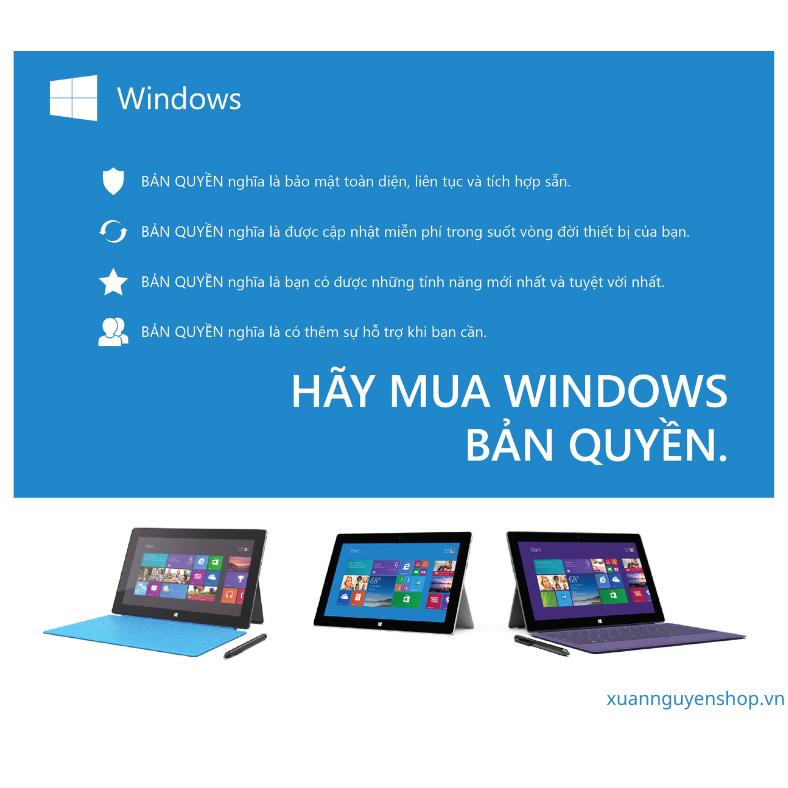 """Mua laptop có sẵn Windows 10 là """"món hời"""" về lâu lài"""