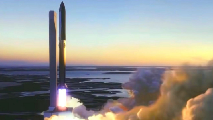 Một vụ phóng mô phỏng của tàu Starship đã hoàn thành của SpaceX.