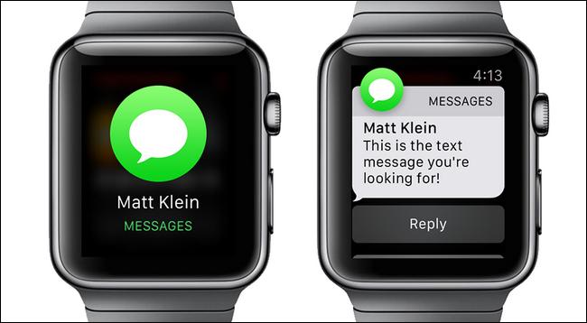 Thông báo có tin nhắn trên đồng hồ thông minh