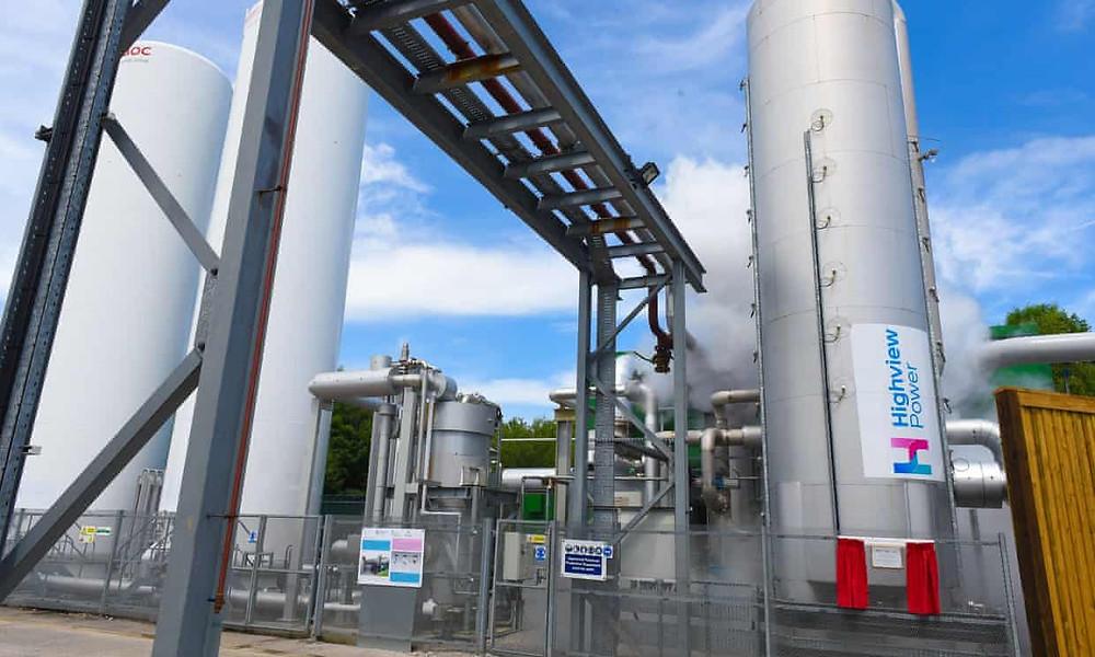 Nhà máy lưu trữ năng lượng không khí chất lỏng Highview Power Pil Pilorth ở Greater Manchester đã nhận được khoản tài trợ 10 triệu bảng từ chính phủ Anh. Ảnh: Highview Power