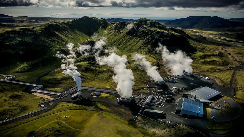 Nhà máy điện địa nhiệt Hellisheidi ở Iceland Hình ảnh: Wikipedia