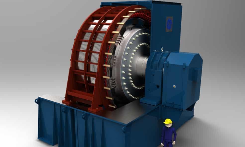 Dự án bánh đà - công trình đầu tiên thuộc loại này trên thế giới - sẽ bắt chước hiệu ứng của một nhà máy điện nhưng không sử dụng nhiên liệu hóa thạch. Ảnh: Tổng công ty Điện lực Anh