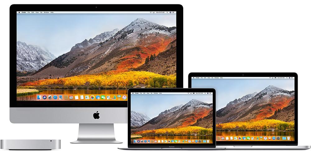 Hệ điều hành Macos High Sierra cho các thiết bị Apple