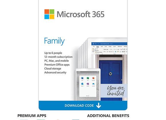 Phần Mềm Microsoft 365 Family English  01 năm - Hàng chính hãng
