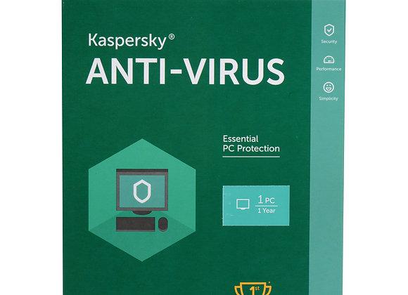 Phần mềm diệt virus Kaspersky Anti-Virus (1 PC/ Năm)