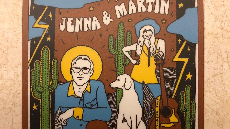Jenna & Martin Sticker