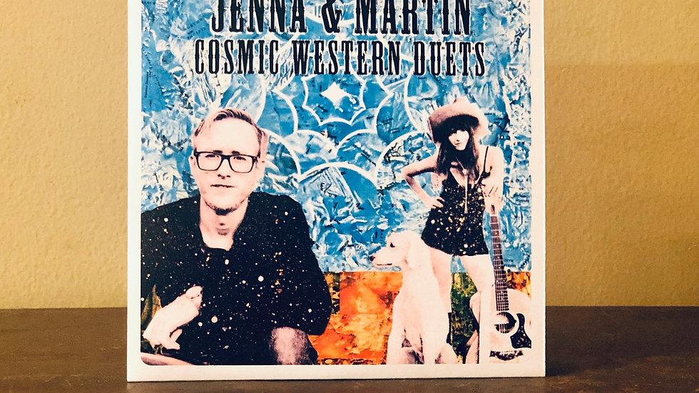 """Cosmic Western Duets"" CD by Jenna & Martin, 2020"