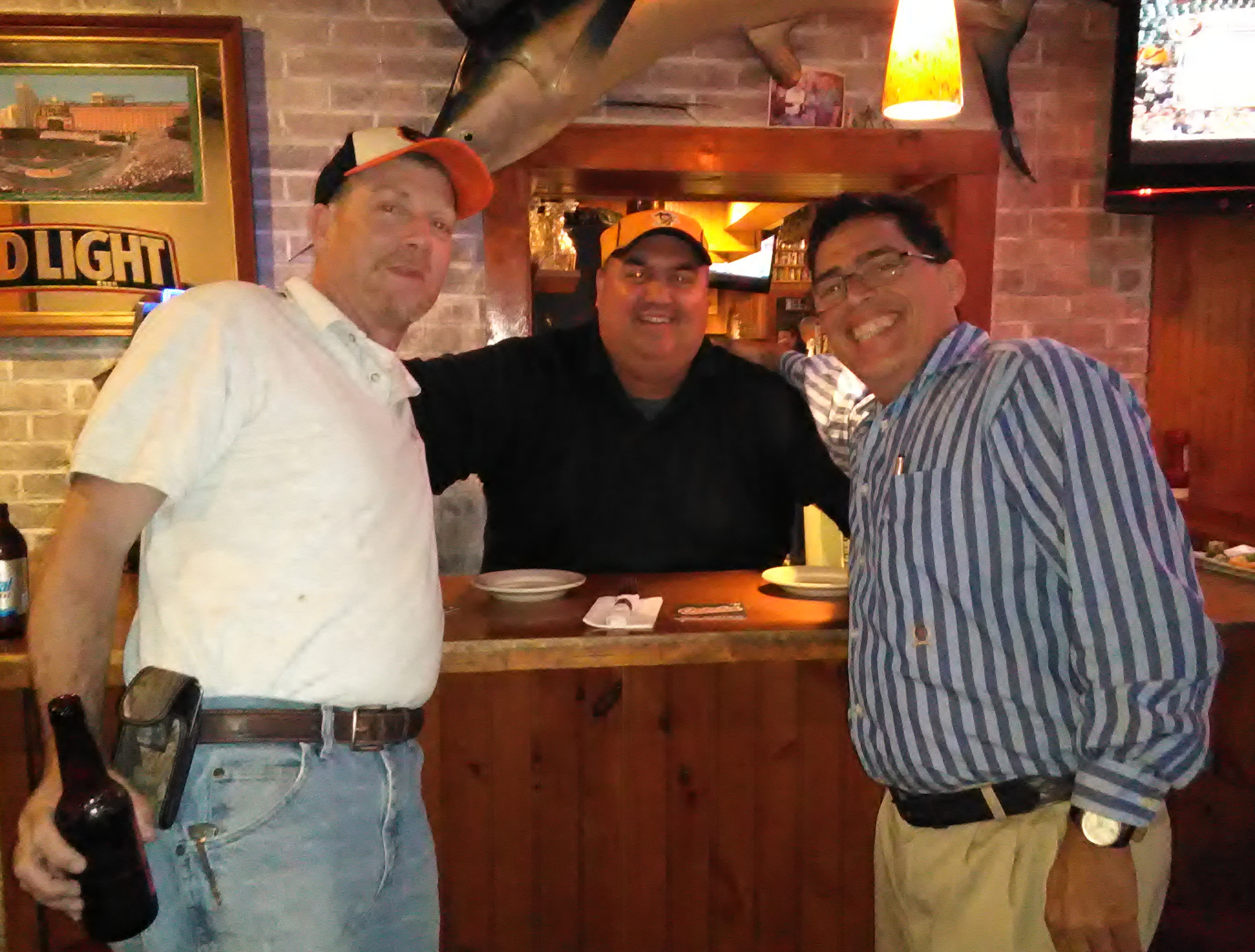 with William F. Pusey(Buddy), the Mayor of Fruitland, Md. and Adams Rib owner, Paul Rosko