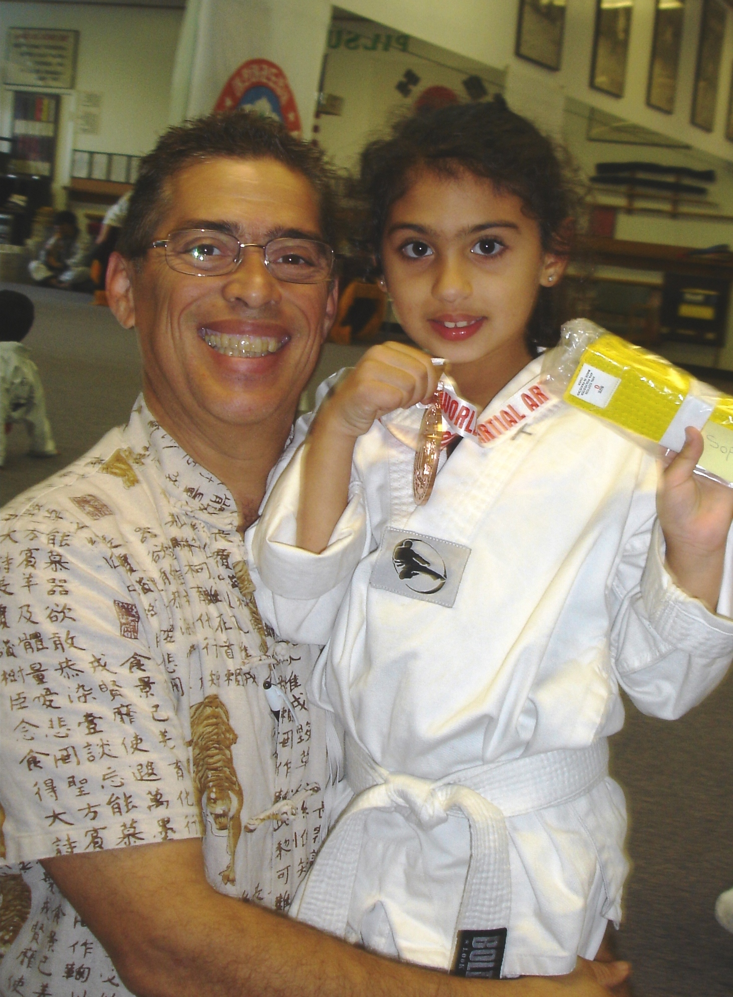 Sophia makes Yellow Belt